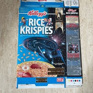 Star Trek 1997 Rice Krispies Cereal box